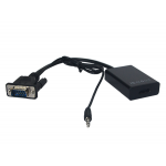 Convertidor cable vga macho a hdmi + audio caja verde