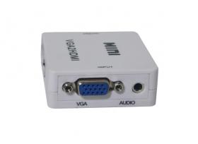 Caja convertidora mini con adaptador vga a hdmi + audio